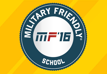 The Military Friendly® Schools designation is awarded to the top colleges in the country that are doing the most to embrace military students, and to dedicate resources to ensure their success both in the classroom and after graduation.